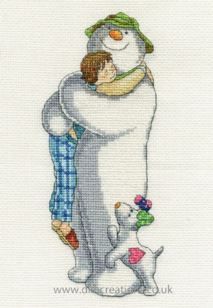 The Snowman and The Snowdog Group Hug Cross Stitch Kit
